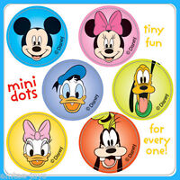 Mickey Mouse Stickers - 48 Dots - 8 Sheets - Birthday Party Supplies Favours