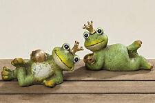 Frosch Froschkönig im 2er Set Garten