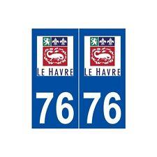 76 Le Havre logo autocollant plaque stickers ville droits