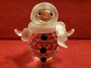 Swarovski Crystal Snowman Figurine with Scarf and Hat - includes Crystals - NIB!