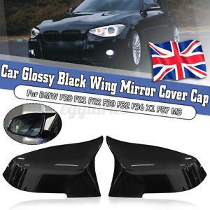 Gloss Black Wing Mirror Cover Cap For BMW F20 F21 F22 F30 F31 F32 F36 X1 E84 F87