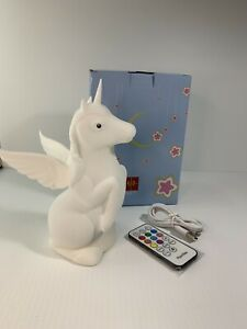 """Unicorn night Sleeping light lamp Soft Safe Silicon 17"""" Tall Rechargeable Remote"""