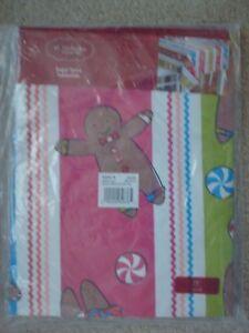 "St. Nicholas Square Sugar Spice Gingerbread Multi 70"" Round Vinyl Tablecloth NWT"