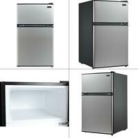 3.4 cu. ft. energy star stainless steel compact refrigerator/freezer in bla