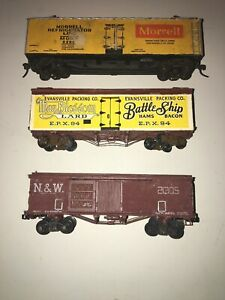 HO SCALE CRAFTSMAN KITS BUILT UP ICE REEFERS (3). Morrel, Battleship, N&W
