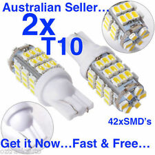 PAIR 12V 42 SMD LED T10 WEDGE GLOBES WHITE-Interior Car/Truck/RV Light Bulb