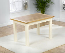 Cottage painted solid oak furniture large dining table