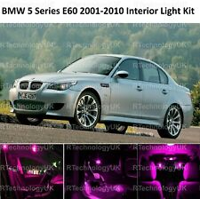 PREMIUM PINK PURPLE for BMW 5 SERIES E60 2001-2010 INTERIOR UPGRADE LED LIGHT