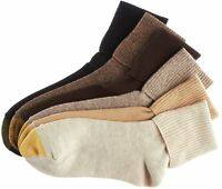 Gold Toe Womens 6-pk. Turn Cuff Socks 9.5-11 Brown/khaki/black