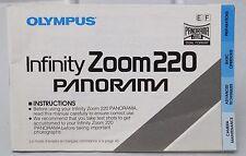 Olympus Infinity Zoom 220 35mm film camera instruction manual 1992