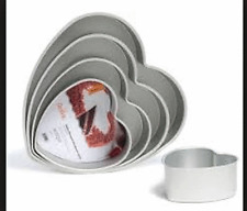 Forma Teglia alluminio anodizzato cuore cm 20x7,5 h Pan Cake forno dolce