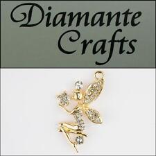 3D Fairy Gold Alloy  Clear Diamantes  DIY Mobile Phone Case Deco 3AG22013