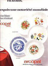 PUBLICITE ADVERTISING 034 1971 ARCOPAL   vaisselle assiettes