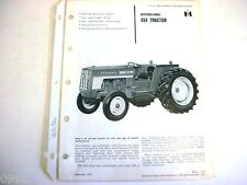 International 454 Tractor Brochure 1970 From Dealers Sales Manual              2