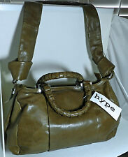 Hype Brown Leather Bag Satchel Shoulder Strap Handbag Adam