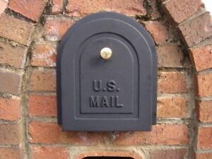 "8"" Brick Mailbox Door - Cast Aluminum Replacement Doors By Better Box Mailboxes"