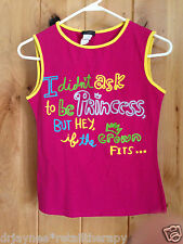 """SIMPLE PINK TANK Y SIZE L """"I DIDN'T ASK TO BE A PRINCESS, BUT IF THE CROWN FITS"""""""