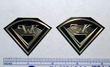 Engraved Solid Brass Klipsch Speaker Badge logo PWK Heresy Cornwall Chorus