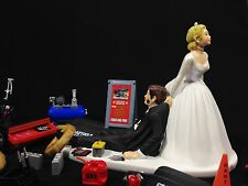 Funny Wedding Cake Topper for Mechanics - Perfect for Groom's Cake - Humorous