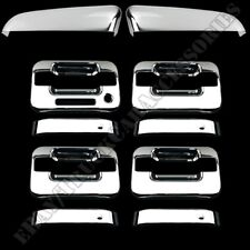 FOR FORD F-150 2009 10 11 12 13 14 CHROME Top MIRROR COVERS 4 DOOR HANDLE COVERS