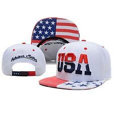 Unisex American Flag hat Mesh Polo Tactical Operator Snapback Baseball Cap White