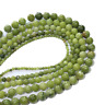For Bracelet Jewelry DIY Natural Green Chinese Jade Stone Loose Beads 4 6 8 10mm