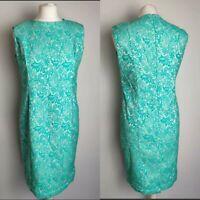 GERARD Women's Dress Green Shift Floral Print Formal Occasion Wedding UK 12