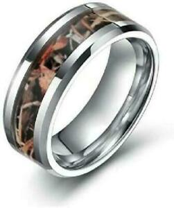Frank S.Burton 6Mm Camo Wedding Band For Men Women Hunting Tungsten Carbide NEW