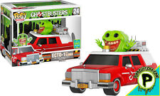 """GHOSTBUSTERS ~ ECTO-1 With Slimer 6"""" Exclusive Vinyl Pop! Rides Figure (Funko)"""