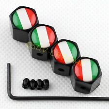 Anti theft Car Wheel Tyre Valve Stem Tire Air Caps Set FOR IT Italy Italian Flag