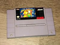 The Simpsons Bart's Nightmare Super Nintendo Snes Cleaned & Tested Authentic
