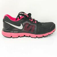 Nike Womens Dual Fusion ST2 454240-003 Black Running Shoes Low Top Lace Up 8.5
