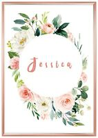 Personalised Nursery Room Decor Wall Art New Baby Gift For Girl