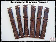 Cinturini artigianali Racing  in cuoio sfumato 20-22mm. Vintage leather straps