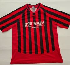 More details for jako men football shirt top number 7 red black striped sus schaag germany xl