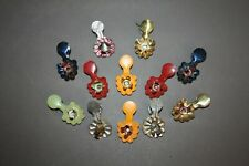 Lot Of 12 Antique Victorian Tin Christmas Tree Branch Clip Candle Reflector