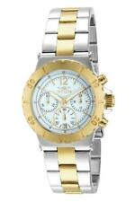 Invicta Specialty 14855 Women's Analog White Chronograph Gold Silver Tone Watch