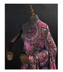 Red pure silk fabric silk Jianhong crepe fabric fashion totem print,SJHC062