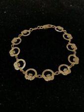 8 inch Bracelet 14k Gold Claddagh