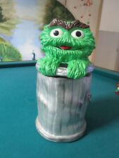 OSCAR THE GROUCH COOKIE JAR, SESAME STREET 12""