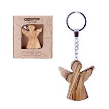 porte-clefs porte-clés ange gardien bois d'Ol ivier sculpté à la main