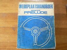 HONDA PRELUDE WERKPLAATSHANDBOEK 1983 AUTO CAR 1800 GRAM PAPER BOOK