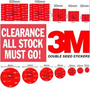 Strong 3M Command Glue Pad/Stickers Dash Cams/Wall Mounts Iphone/Tablets/Samsung