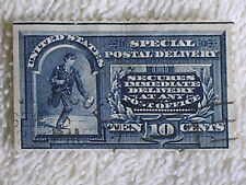 Scott #E1 1890s 10 Cent Special Postal Delivery Stamp/Perforated/Used/Hinged/a