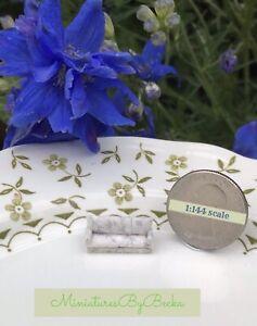 1:144 Scale Handmade Dollhouse Miniature Teeny Tiny Grey Couch