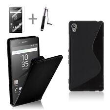 BLACK FLIP 4in1 Accessory Bundle Kit S TPU Case Cover For Sony Xperia Z5