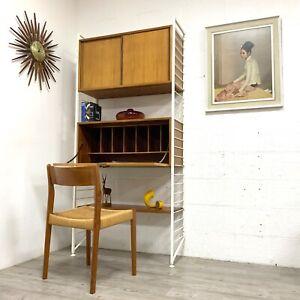 Mid Century Vintage Retro Teak STAPLES LADDERAX Wall Shelving System Unit /2