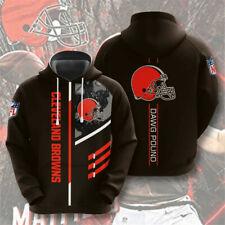Cleveland Browns Hoodies Men's Football Sweatshirt Pullover Fans Casual Jacket