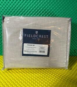 "NIP Threshold Pebble Cotton Cashmere F/Q Duvet Set New In package ""Pebble"""