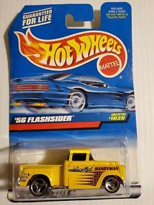 1999 Hot Wheels Collector #1028 '56 Flashsider Hot Rod HANDYMAN Yellow 56 Chevy